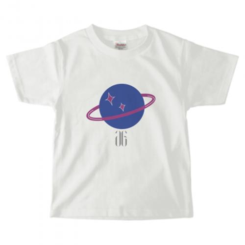 惑星をプリントしたオリジナルのキッズTシャツ