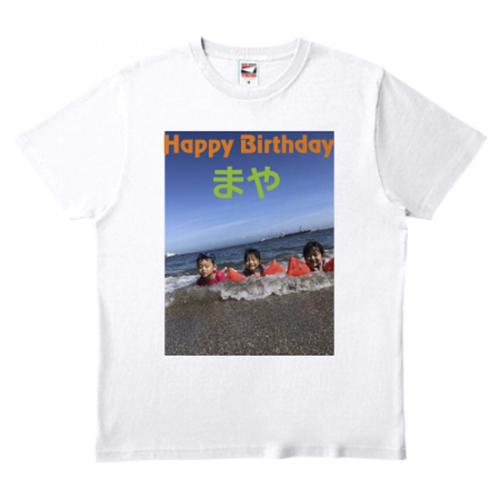 海水浴の写真をプリント!誕生日記念のTシャツ