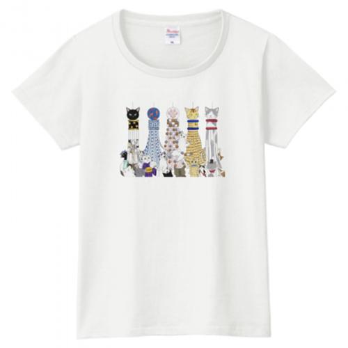 猫の七夕飾り!オリジナルイラストをプリントしたTシャツ