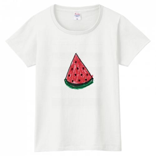 スイカのプリントTシャツ