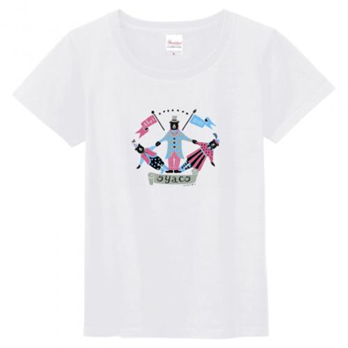 クマの親子イラストのかわいいオリジナルTシャツ