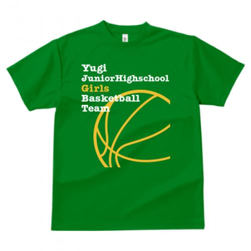 バスケットボールのTシャツデザインを作成してプリント!
