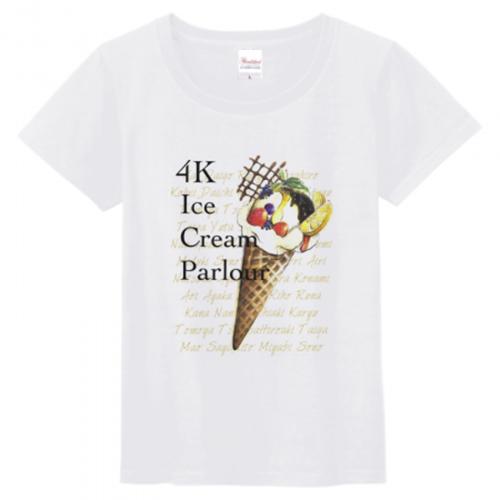 アイスクリームパーラーのオリジナルスタッフTシャツ