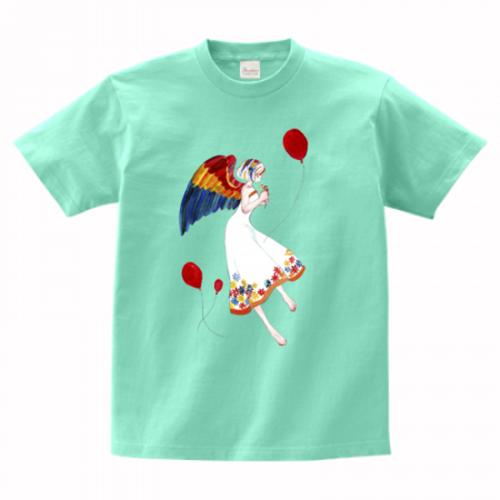 鮮やかなイラストをプリントしたオリジナルTシャツ