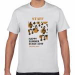 音符をプリント!音楽フェスのオリジナルスタッフTシャツ