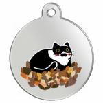 民宿の愛猫をプリントしたオリジナルキーホルダー