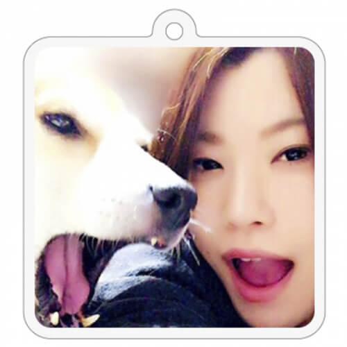 愛犬との写真をプリントしてオリジナルキーホルダーに