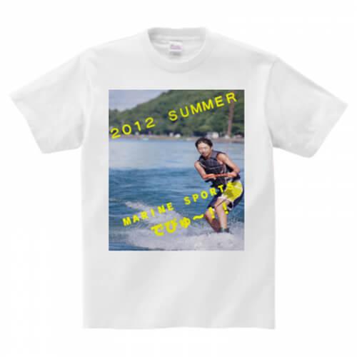 マリンスポーツの思い出をプリントしたオリジナルTシャツ