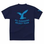 シンボルをプリントした女子サッカーチームのオリジナルTシャツ
