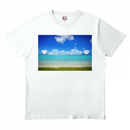 海の風景をプリントしたオリジナルTシャツ