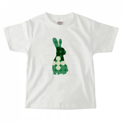 ドット柄のうさぎが素敵なキッズ用のオリジナルTシャツ
