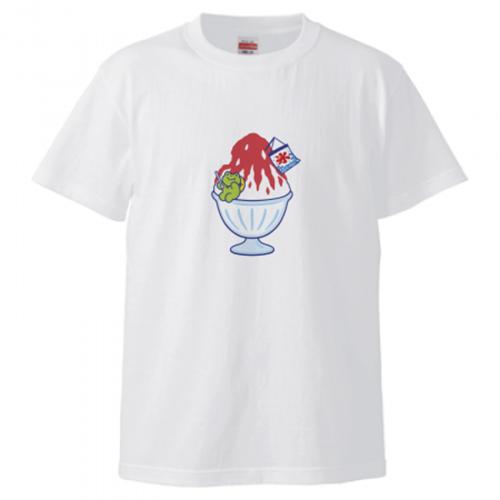 かき氷をプリントしたオリジナルTシャツ