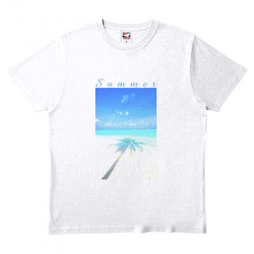 爽やかな海の風景をプリントしたオリジナルTシャツ