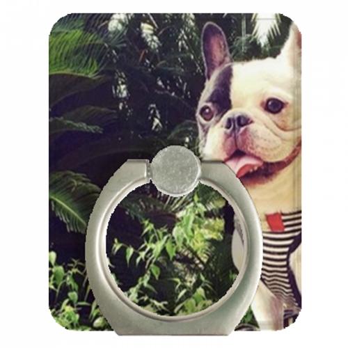 かわいいペットの写真をスマホリングに!
