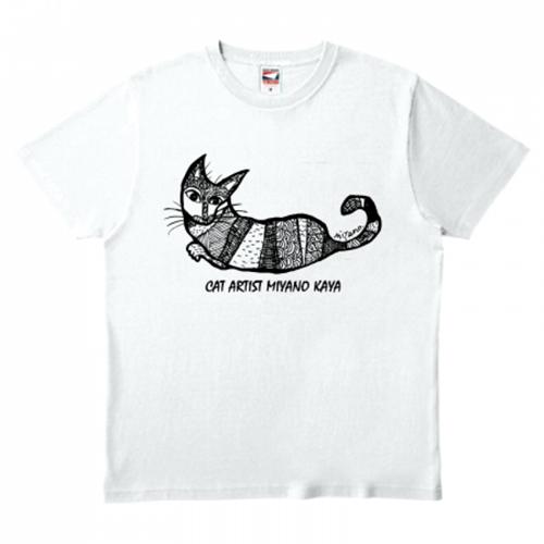 猫イラストをデザインしたオリジナルのプリントTシャツ