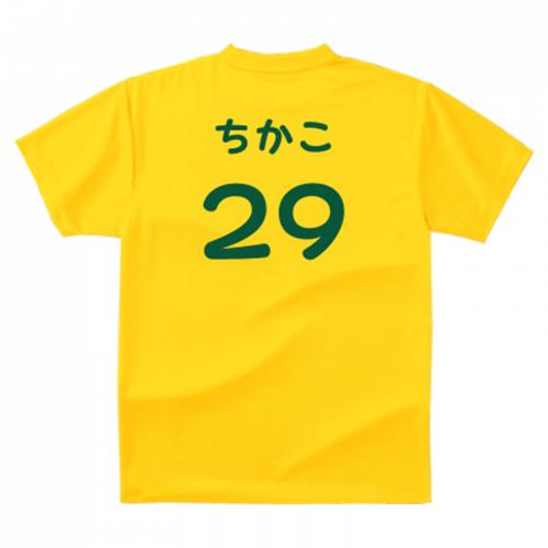 選手全員の名前をひらがなでデザイン。オリジナルのチームTシャツ
