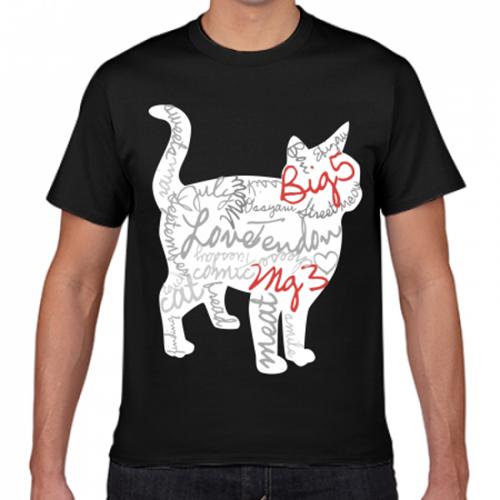 猫好きにおすすめ♪シルエットをデザインしたプリントTシャツ