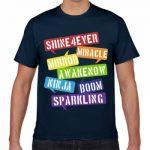 ハッピーなメッセージをプリントしたオリジナルTシャツ