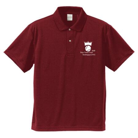 テニス部のチームポロシャツ