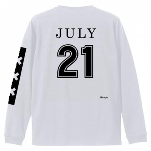 背番号デザインの長袖Tシャツを作成