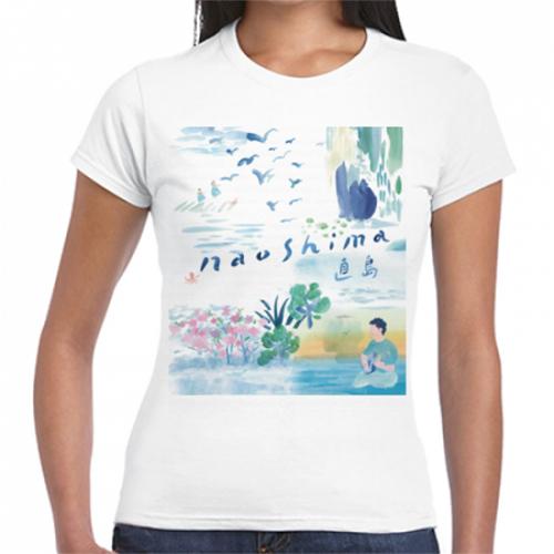直島のイラストが美しいオリジナルTシャツ