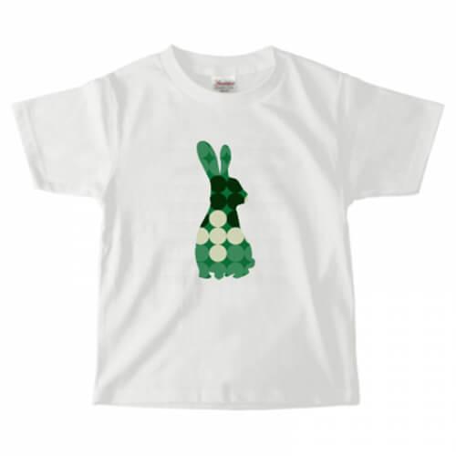 ドット柄のうさぎが素敵な子供用のオリジナルTシャツ