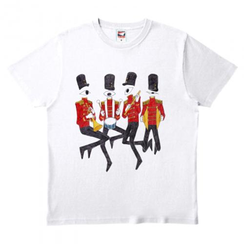 鼓笛隊のイラストをプリントしたオリジナルTシャツ