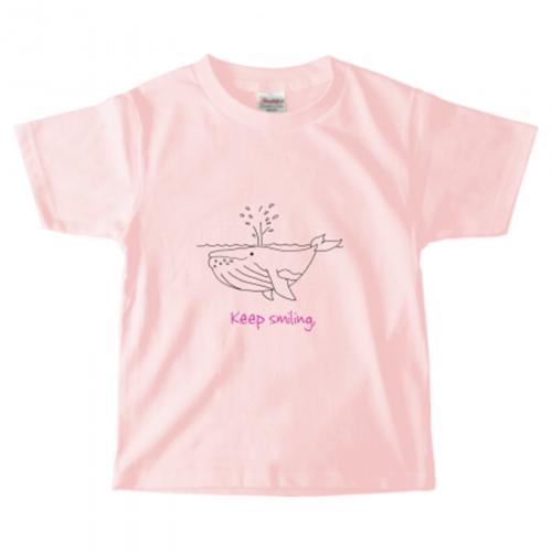 クジラのイラストをプリントした子供用のオリジナルTシャツ