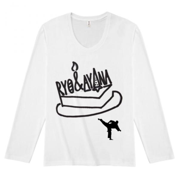 カップルの誕生日にオリジナルの長袖Tシャツを作成