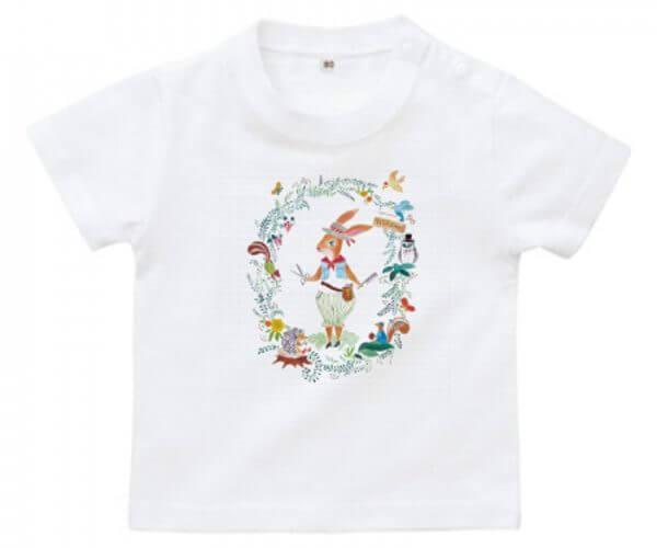 うさぎの美容師のイラストのベビー用オリジナルTシャツ