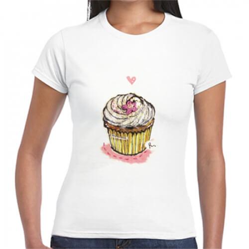 かわいいオリジナルイラストのプリントTシャツ