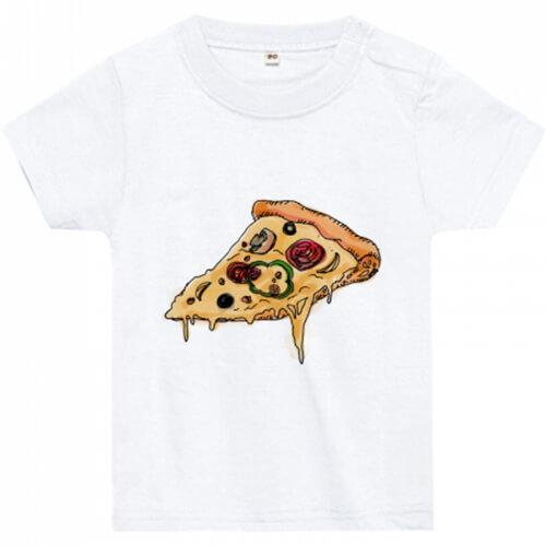 ピザが美味しそうなオリジナルの赤ちゃん用Tシャツ
