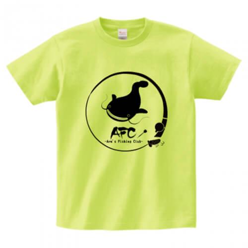 釣り仲間とお揃いでプリントTシャツを作成