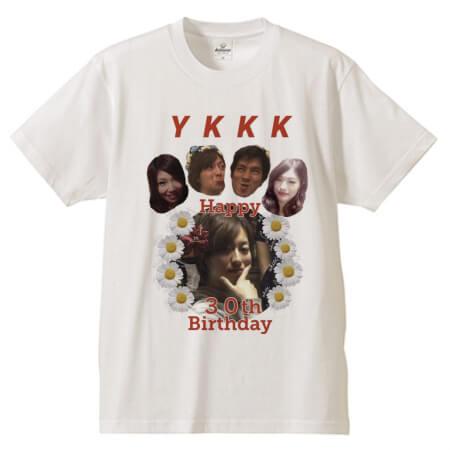 誕生日に写真をプリントしてオリジナルTシャツを作成