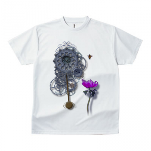 立体的なデザインのプリントTシャツ