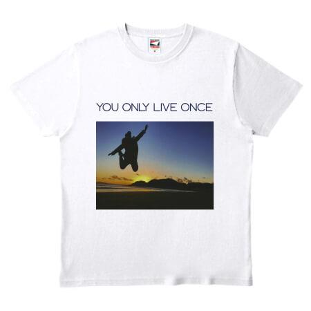 お気に入りの写真でオリジナルのプリントTシャツを作成
