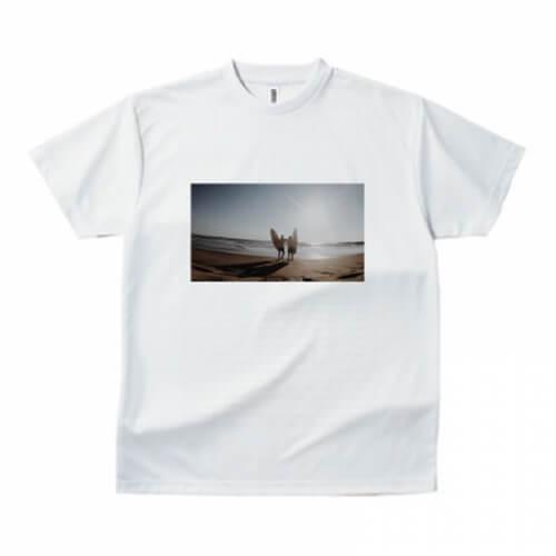 サーフィン風景をプリントしたオリジナルTシャツ