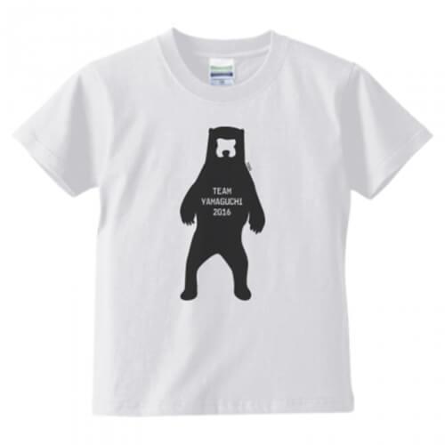 オリジナルイラストでチームの子ども用プリントTシャツを作成