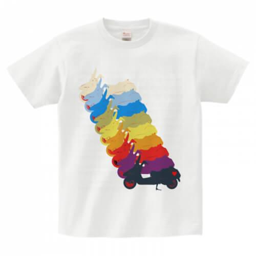 バイクのシルエットをデザインしたお洒落なオリジナルTシャツ