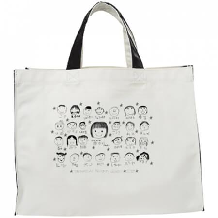 保育園の記念品に似顔絵イラストのオリジナルバッグ