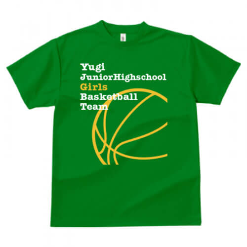 バスケ部でオリジナルのチームTシャツを作成!
