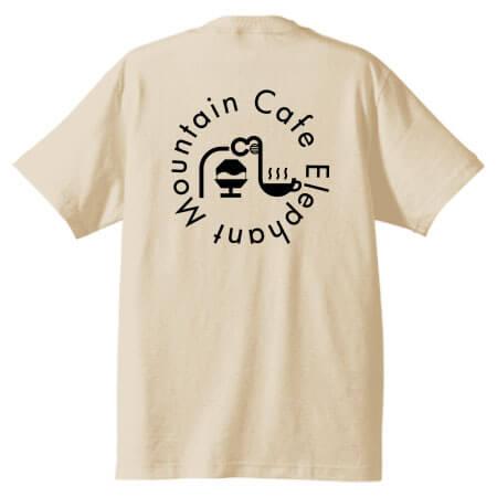 オリジナルロゴで作成したカフェのスタッフ用プリントTシャツ
