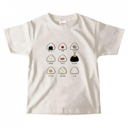 おにぎりイラストをプリントした子ども用のオリジナルTシャツ