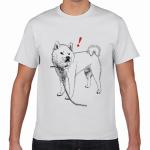 犬のイラストでオリジナルTシャツを作成