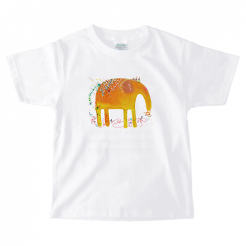 かわいいゾウのイラストで子供用のオリジナルTシャツを作成