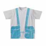 胸ポケット風デザインをプリントした全面プリントTシャツ