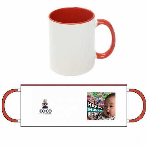 ハーフバースデーの記念にオリジナルマグカップを作成!