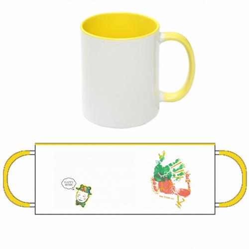 赤ちゃんの誕生記念に作成したオリジナルマグカップ
