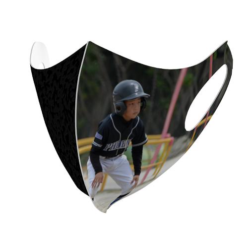 写真をプリントして少年野球チームのオリジナルマスクを作成!