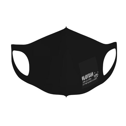 ロゴをプリントして黒のマスクでオリジナルマスクを作成